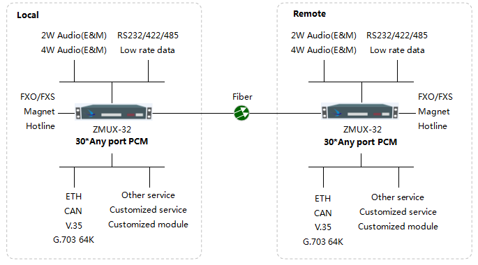 ZMUX-32 Network Diagram